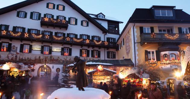 Hotel Gasthof zur Post Adventmarkt Mozartplatz
