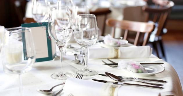 Gedeckter Tisch Hotel Gasthof zur Post