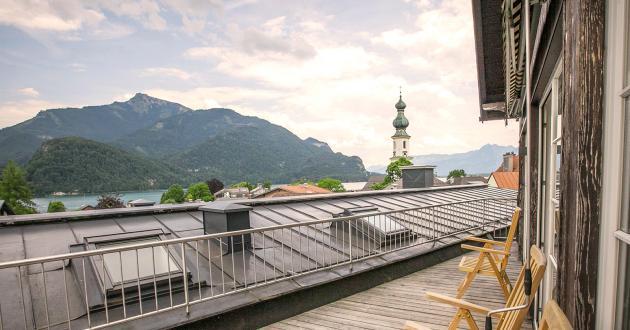 Ausblick Wellnessbereich Hotel Gasthof zur Post.