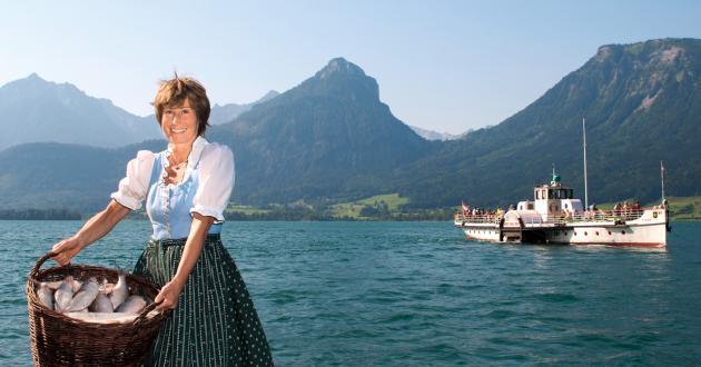 Hotel Gasthof zur Post Schlossfischerei Fuschl Efi mit Korb