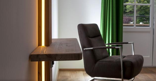 Beleuchtung Weißwand Zimmer Gasthof zur Post