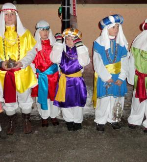 Hotel Gasthof zur Post Kinder beim Dreikönigsreiten