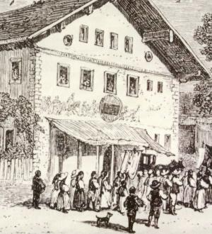 Historic image of the Gasthof zur Post