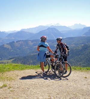 Hotel Gasthof zur Post Ausblick Mountain Biker