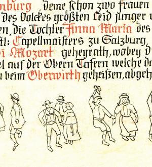 Altes Dokument Nannerl Hochzeit Gasthof zur Post
