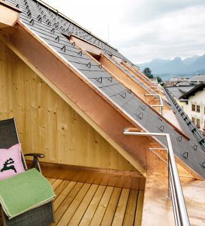 Hotel Gasthof zur Post Zimmer Wolfgangsee Balkon Ausblick
