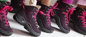 Schuhe der Wanderdamen