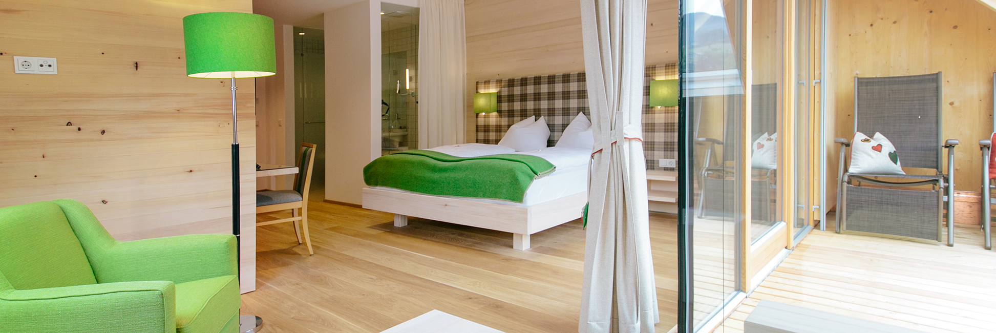 Doppelbett im Zimmer Wolfgangsee de luxe